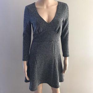Free people A-line dress Sz S Black 3/4 sleeve